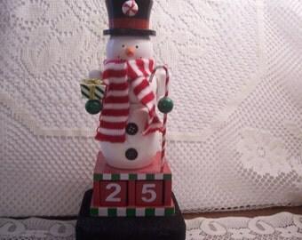 Snowman Calender Figurine