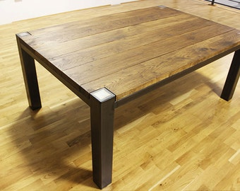 6ft Hugh Industrial Oak and Steel Dining Table