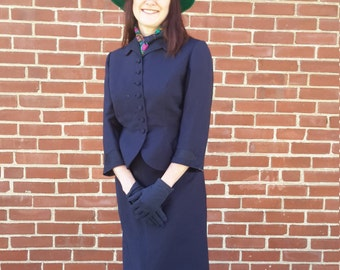 Vintage 1940 navy blue suit FREE SHIPPING from RCMooreVintage BEAUTIFUL!