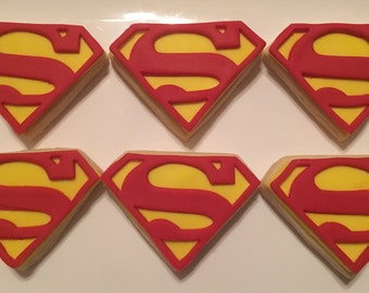 Superman inspired sugar cookies