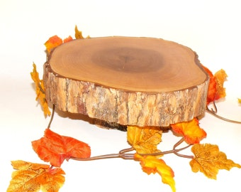 "Rustic Wood Cake stand ~ Wedding, graduation, reunions, 9-10"" diameter ~ Groomsmen ~ Table Centerpiece, cupcake stand, birthdays,"