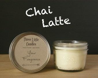 Chai Latte Soy Candle Mason Jar - 170g - 30 + Hour Burn Time