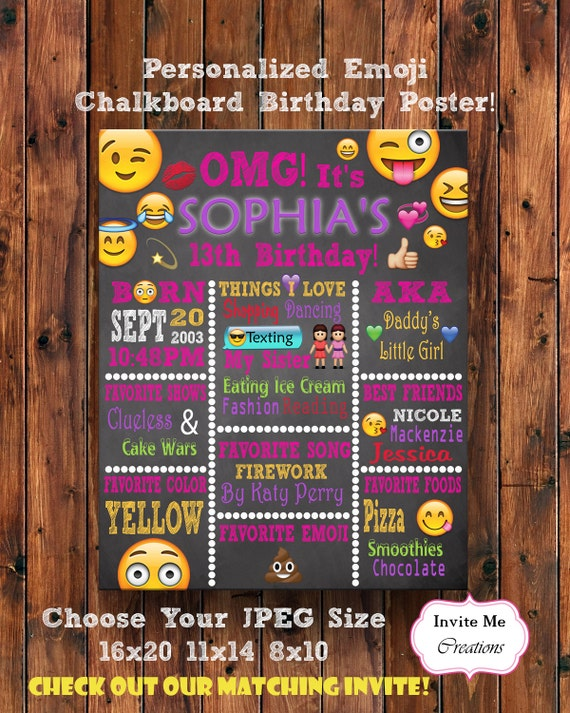 Posters Emoji Printable Sheets