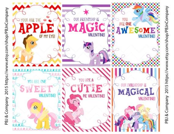 My Little Pony Printable Valentine S Day Cards By Pbjncompany