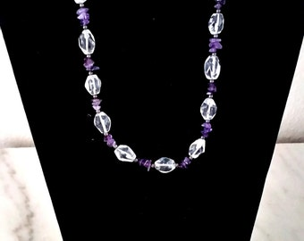 Crystal and Amethyst necklace