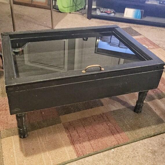 Old Window Coffee Table Shadow Box: Wood Shadow Box Coffee Table Military By SandJBargainVault