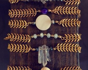 Fish bone bracelets