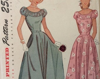 Simplicity 2392 misses one piece dress size 14 bust 32 vintage 1940's sewing pattern