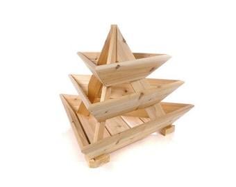 Plant Pyramid Cedar Planter 3-Level Raised Bed ***Free Shipping US48**