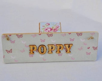 Personalised large name plaque boy or girl