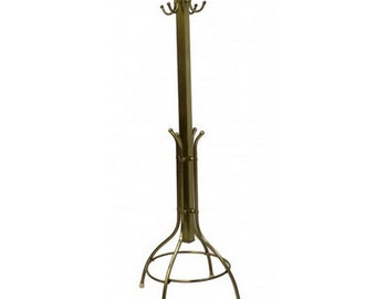 Mid Century Coat and Hat Stand in Brass
