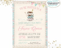 Baby Shower Tea Party Invitation Girls Baby Shower Tea Party Invitation Shabby Chic Floral Tea Party Baby Shower Invitation Girl Baby Shower