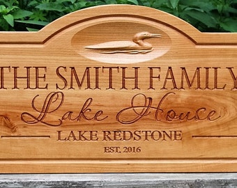 Lake house sign-personalized Lake house gift-lake decor-established sign-Custom lake house signs-home on the by the lake gift-lakehouse sign