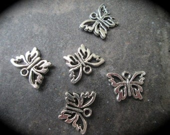 Butterfly charms package of 5 charms perfect for adjustable bangle bracelets  Great Quality