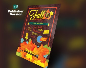 Fall Festivities Holiday Flyer Publisher Template 4x6