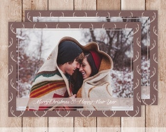 Printable Photography Christmas Card - Made With Your Personal Photograph & Text - Design #2