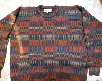 Man's handmade 100% alpaca wool sweater jumper pullover by Intewara