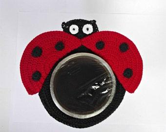Camera lens buddy, camera accessories, lens buddy, crochet lens critter, crochet ladybug, photographer helper, photo prop, family photo