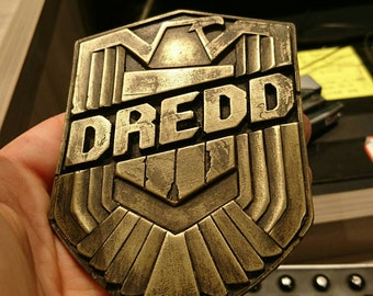 Dredd prop Replica - Dredd Badge cast from Original Production Prop