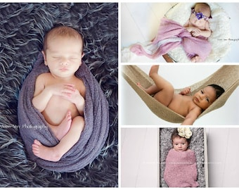 Newborn Stretch knit, Stretch wrap, Baby Photo Prop Rayon Wrap For Swaddling
