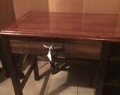 Desk , Antique Desk, Vintage Desk, Desk With Shelves