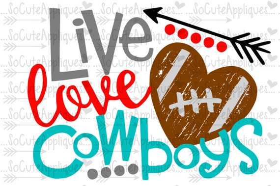 Download SVG DXF EPS Cut file Live Love Cowboys svg file by ...