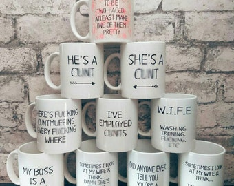 11oz mugs with funny quotes, introductory offer