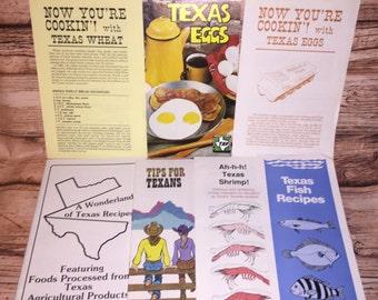 Vintage Texas Agricultural Cooking Pamphlets, Texas State Fair Ephemera, Cookbook Pamphlets, Gardening Pamphlet