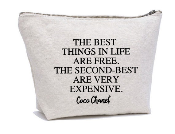 b6b4ea360688 3 Quotes: Coco Chanel Quote Makeup Bag Cosmetic Pouch Cosmetic Bag