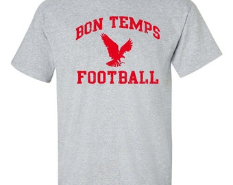 BON TEMPS FOOTBALL True Blood Fangtasia Goth Vampires Men's Tee Shirt 360