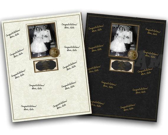 50th Wedding Anniversary Gift Ideas Gold: 50th Wedding Anniversary Signature Mat