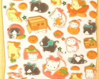 Cute Egyptian Cat Puffy Stickers 1 Sheet