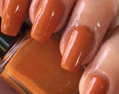 Punkin Belly - burnt orange cream with abhont of shimmering sparkle nail polish