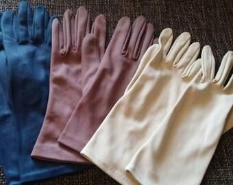 Vintage fifties 50s ladies gloves daygloves chique elegant Hollywood