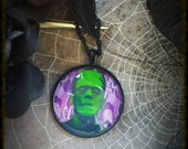 Frankenstein, Gravestone, Spooky Necklace