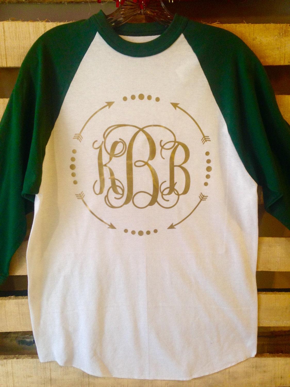 Baseball T Shirt Dark Green Sleeve Baseball Shirt By Shopsheas