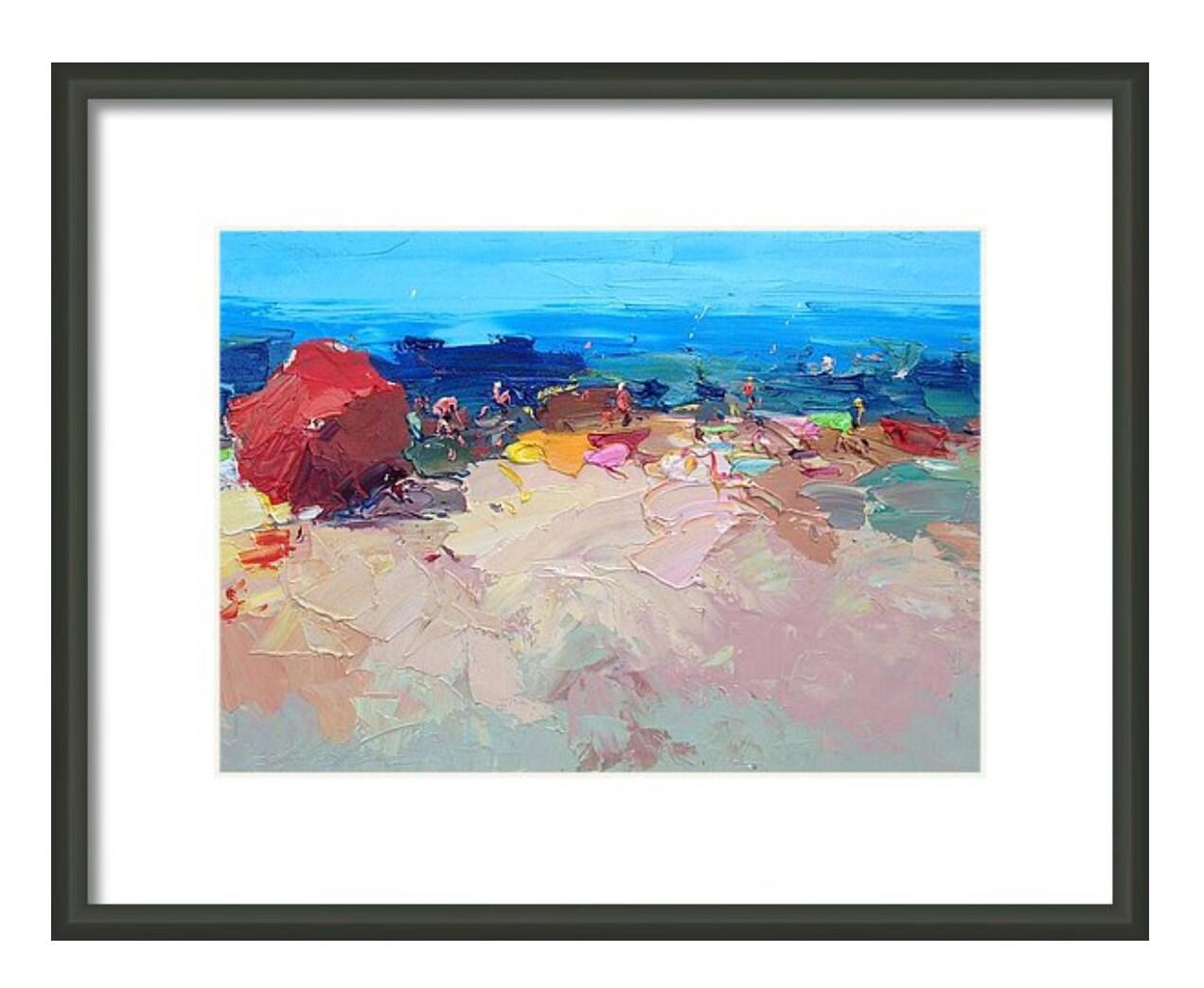 Abstract beach prints beach house decor beach by for Beach house prints