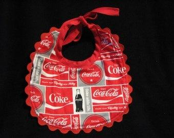 Babies Reversible Coco-Cola/Coke Baby Bib