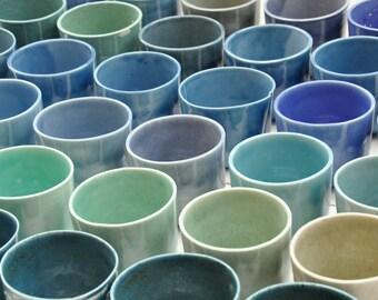 Handmade porcelain cup
