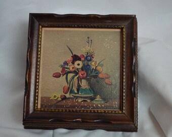 Vintage Mirrored Wood Box