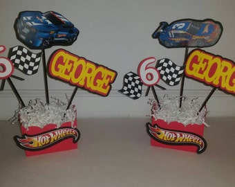 Hot Wheels centerpiece.Hot Wheels Party Decorations