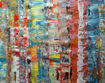 ORIGINAL Painting, Art Painting Acrylic Painting Abstract Painting, Colors of Spring