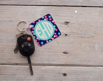 Monogram Keychain, Personalized Keychain, Many Patterns to Choose from!