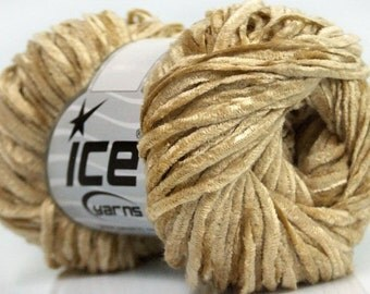 Chenille Knitting Yarn  Crochet  Light Camel