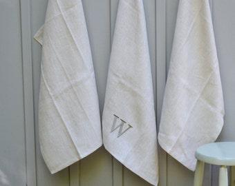Personalized Kitchen Towel, Eco-friendly, Monogrammed Tea Towel,  Monogrammed Gifts, Linen Kitchen Towel
