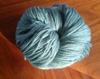 Yarn, Merino, Sock, Superwash, Hand dyed, Dark Teal, Stellina, No. 6