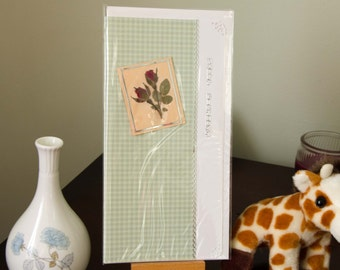 Handmade greetings card, high quality papers, Female #4, Happy Birthday,