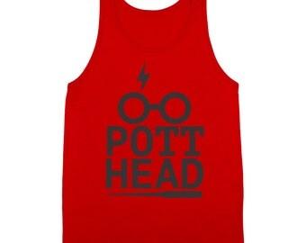 Pot Head Potter Funny Wizard Geek Weed Tank Top DT0002