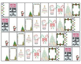 Christmas EC stickers