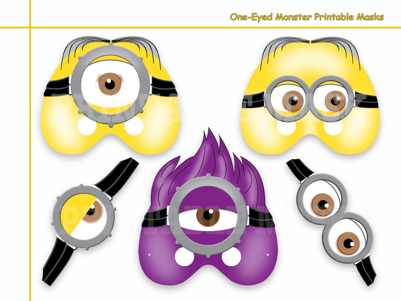 Unique One Eyed Monster Printable Masks Diy Party Mask